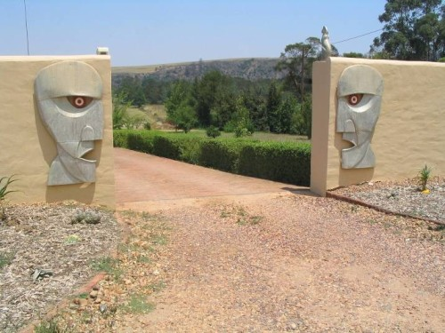 "Pink Floyd ""The Division Bell"" faces in 180cm high sheet metal"
