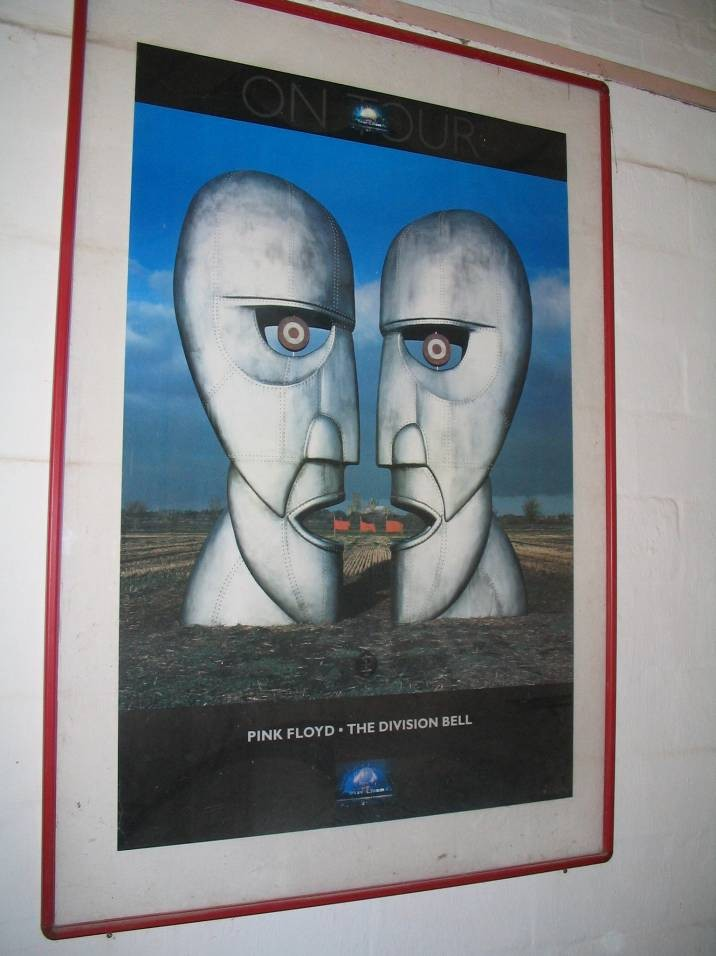 """Pink Floyd """"The Division Bell"""" poster in 120 x 180cm frame"""