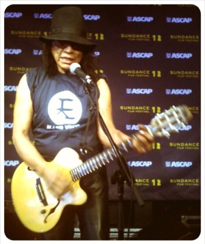 Rodriguez At Sundance In His Mabu Vinyl T-Shirt!