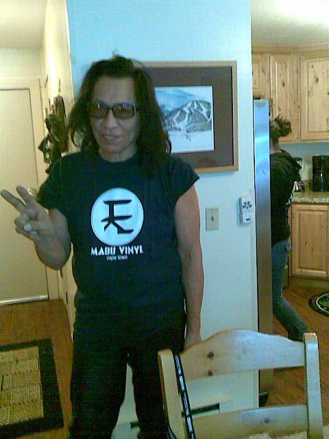 Rodriguez In His Mabu Vinyl T-Shirt.