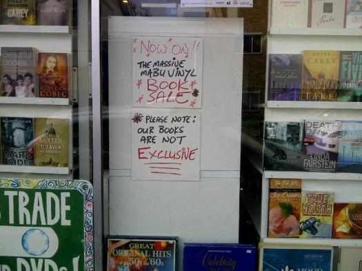 Mabu Vinyl's Book Sale - Now On!!!